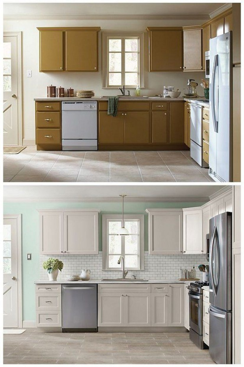 kitchen cabinet refacing | 21 Kitchen Cabinet Refacing Ideas 2019 (Options To ...