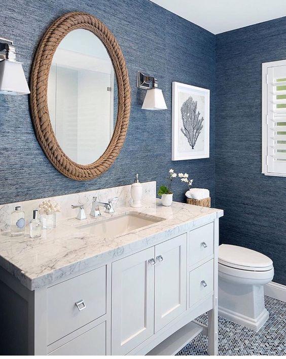 41 cool half bathroom ideas and designs you should see in 2019 - Small half bathroom layout ...