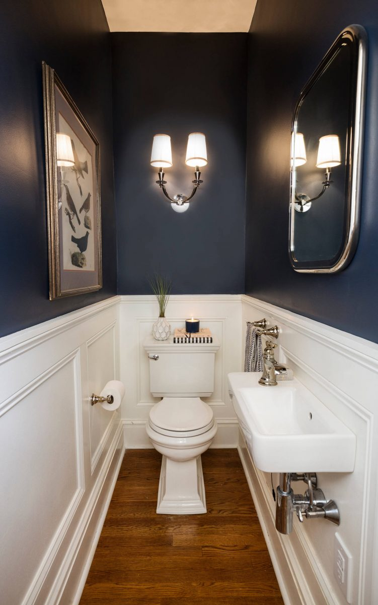 half bathroom tile ideas