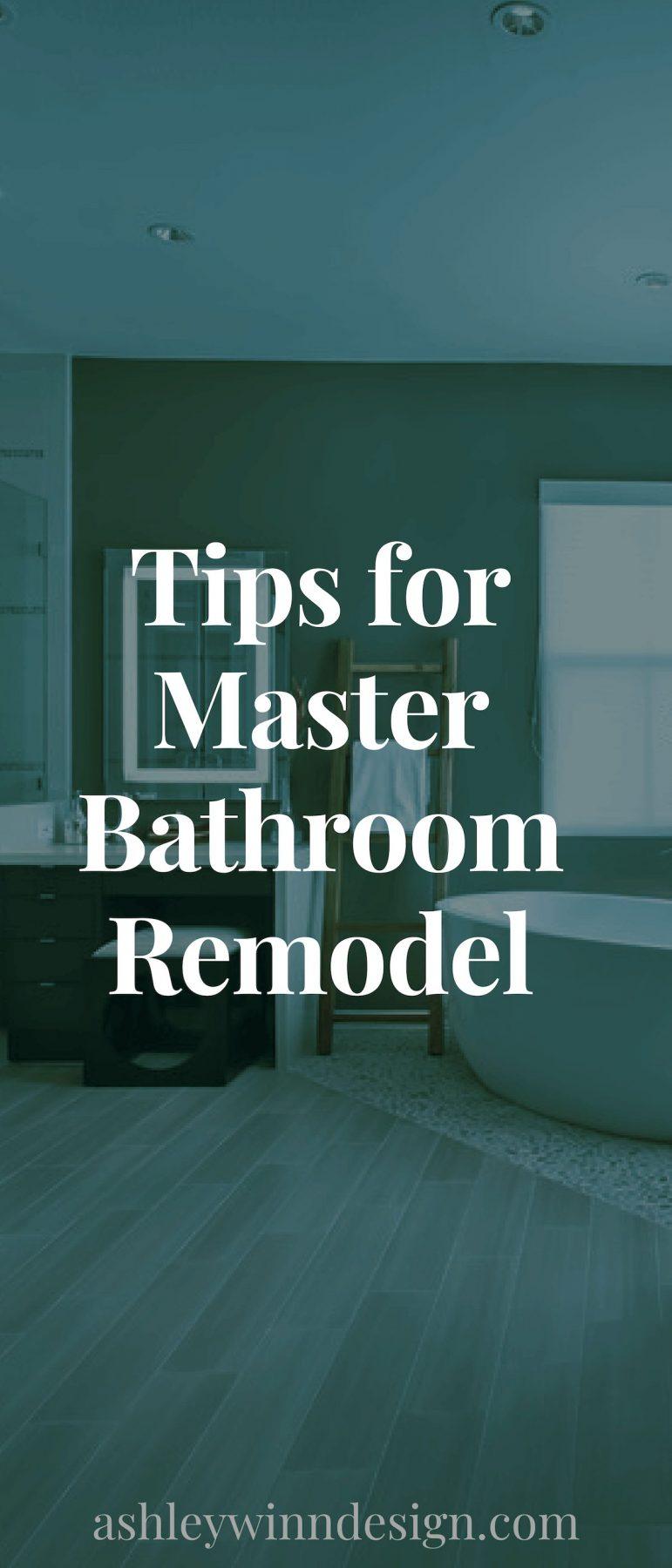 tips for master bathroom remodel