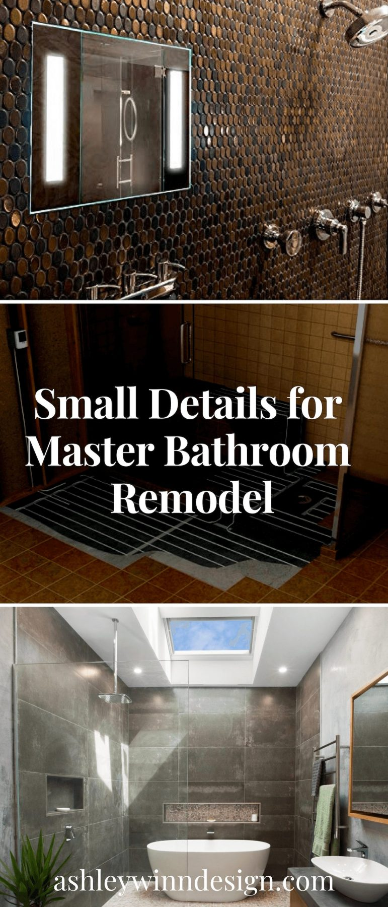 Small Details for Master Bathroom Remodel