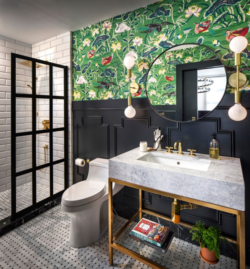 Eclectic Style Bathroom Remodel