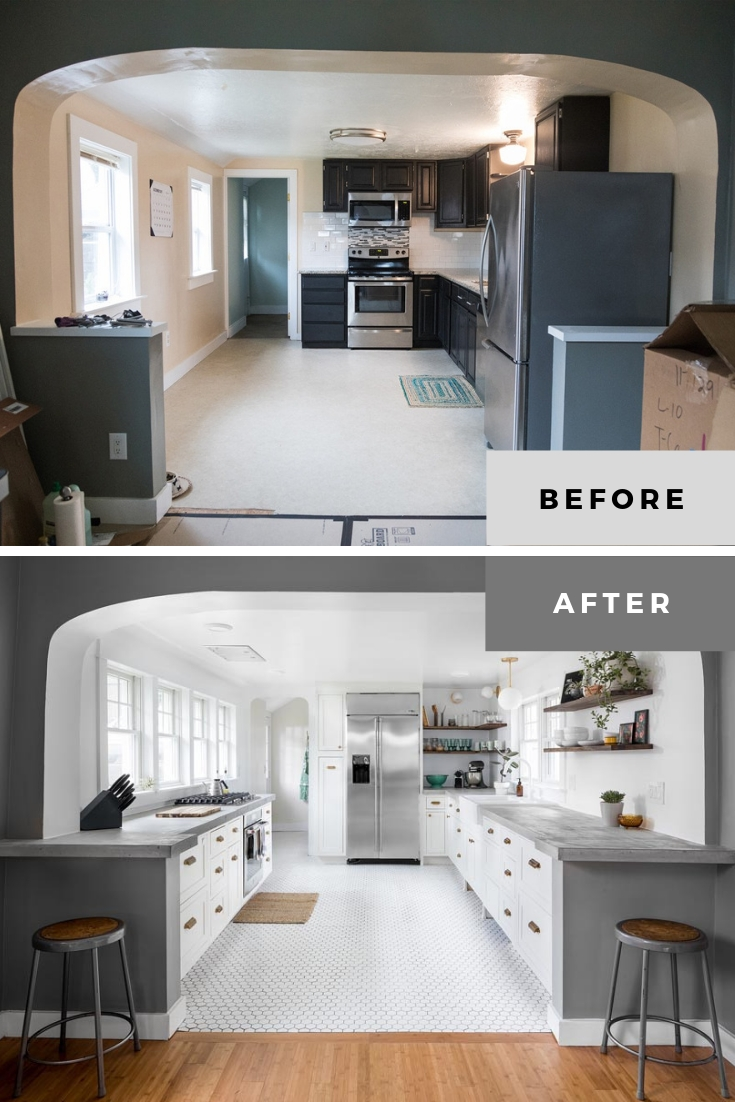 small kitchen remodel before and after