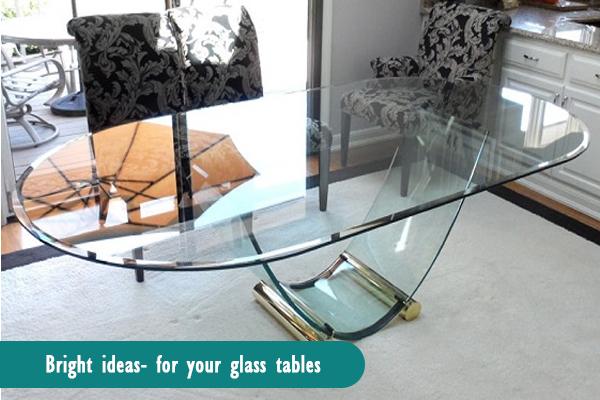 glass sofa table decor
