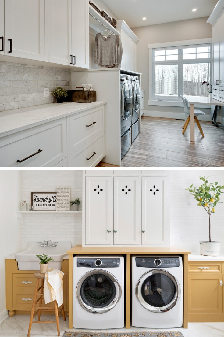 how to remodel a small laundry room