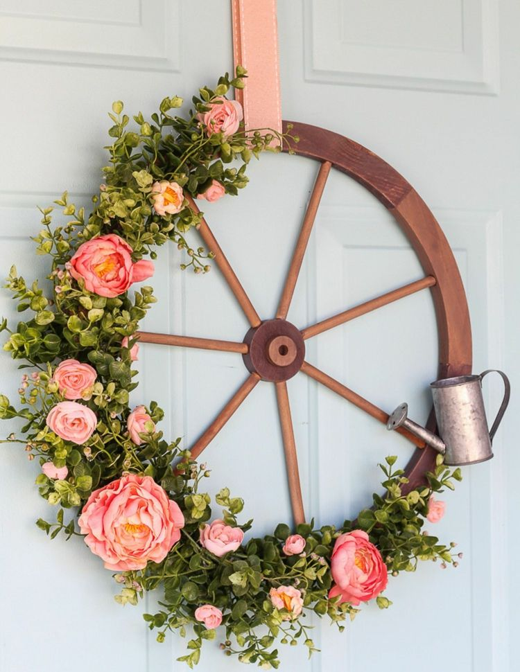 romantic country decor wreath