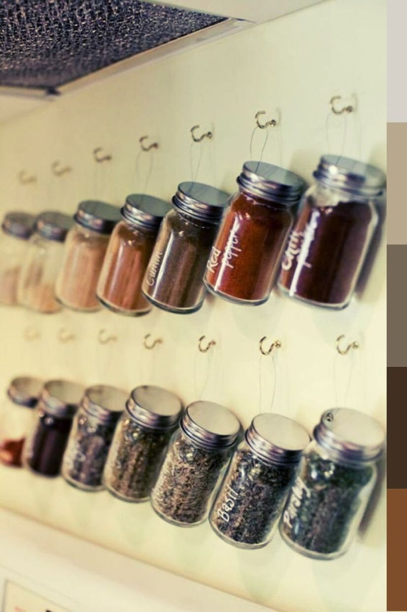 easy diy hanging spice rack