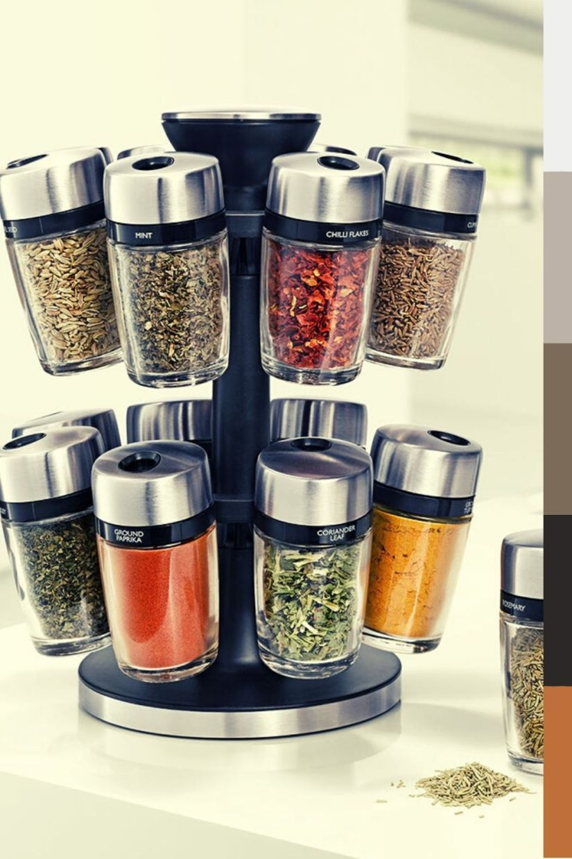 contemporary spinning spice rack