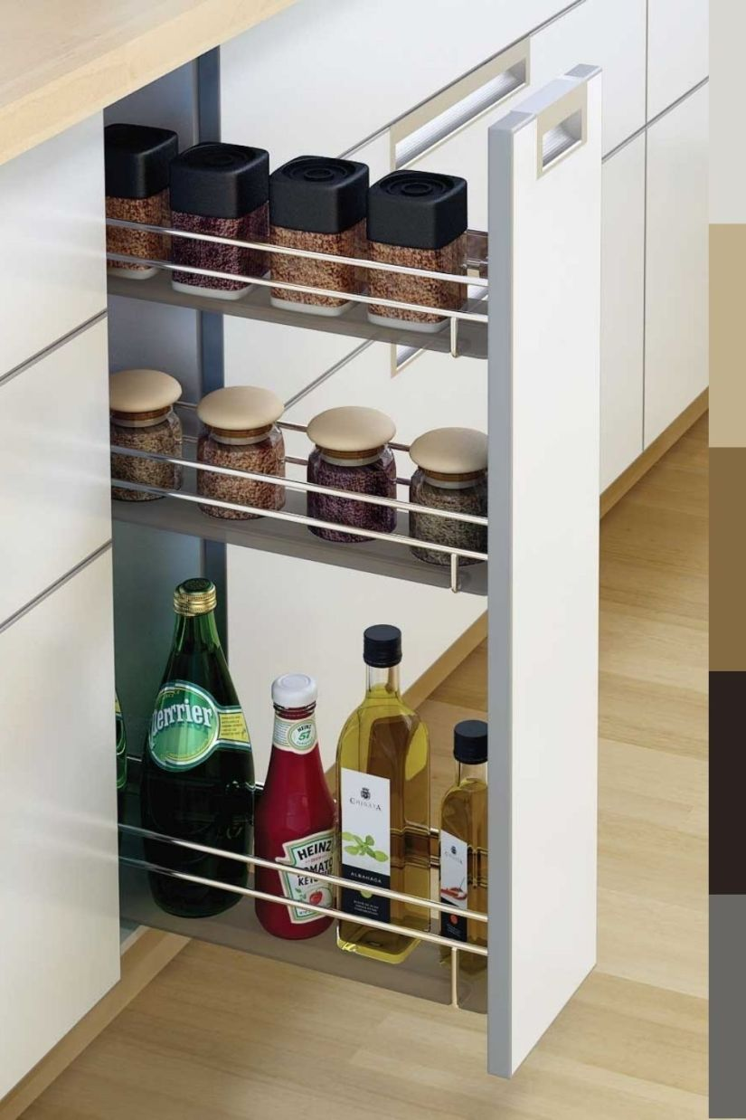 modern pull-out spice rack