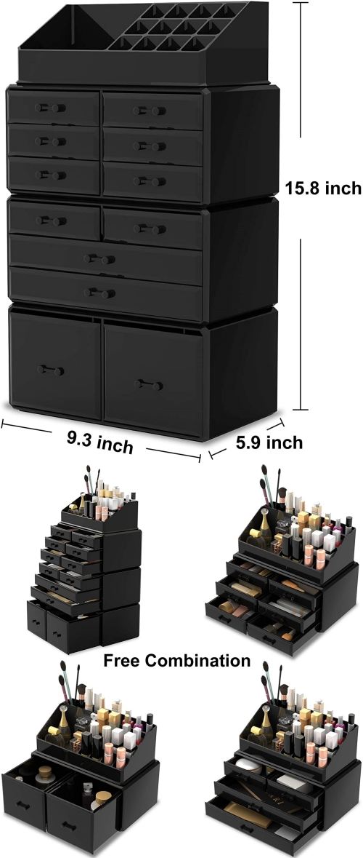 stackable makeup drawer