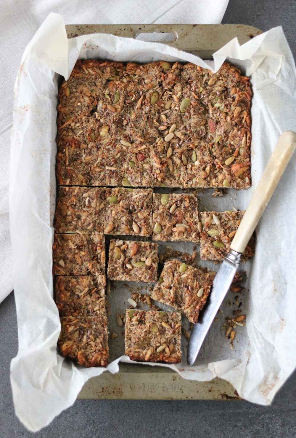Photo: Fruit free muesli bar slice