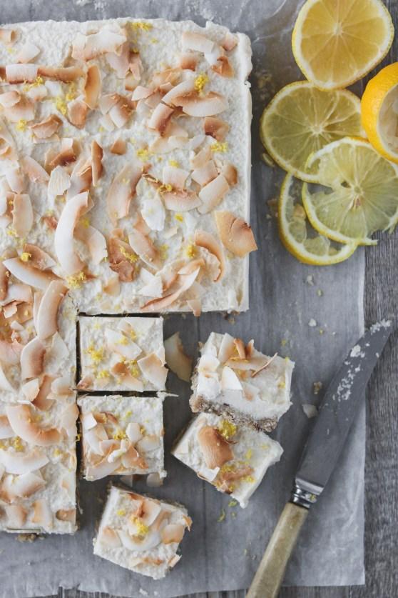 Photo: Lemon, Macadamia and Coconut Slice
