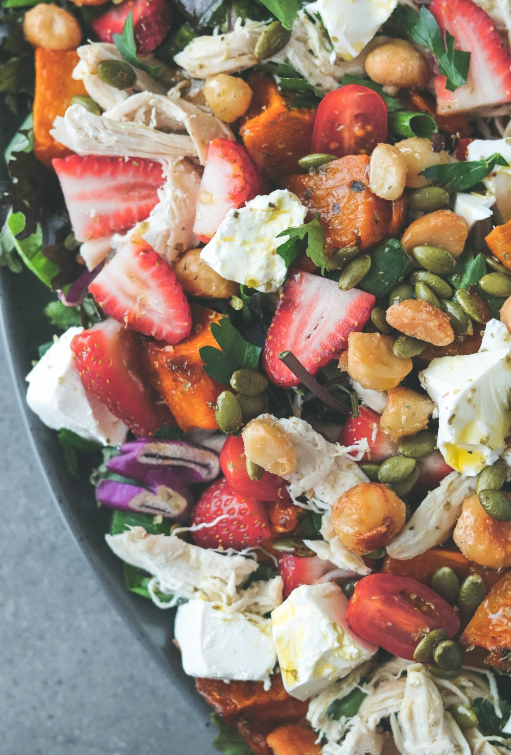 Photo: Maple pumpkin, chicken & strawberry salad