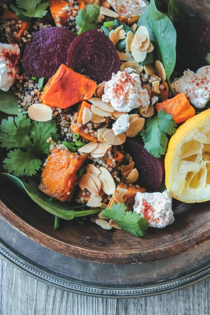 Photo: Fragrant Roasted Pumpkin, Sweet Potato and Quinoa Salad
