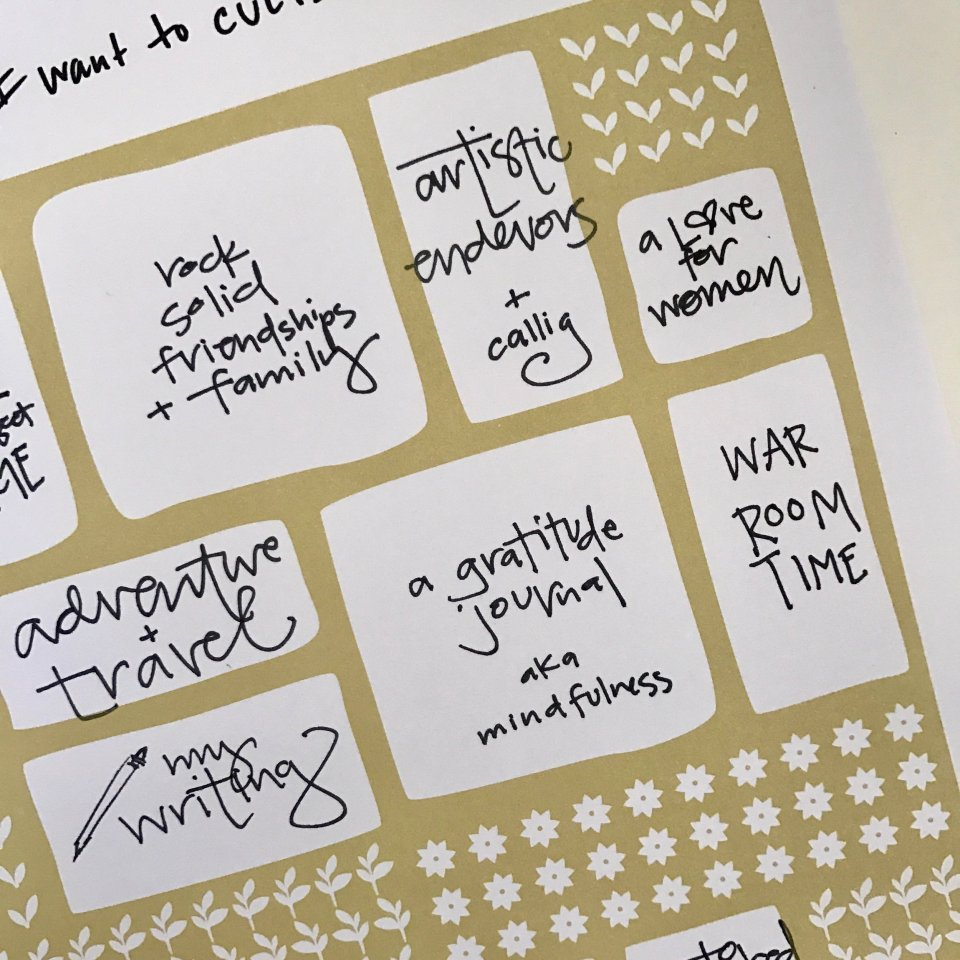 How I set goals as a creative entrepreneur with the Emily Ley Simplified Planner and Lara Casey's Powersheets