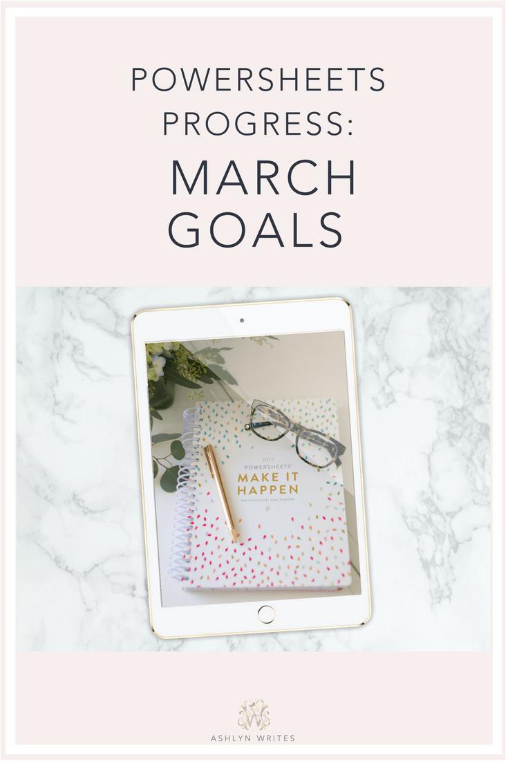 #Powersheets progress on my 2017 goals -- a March update!