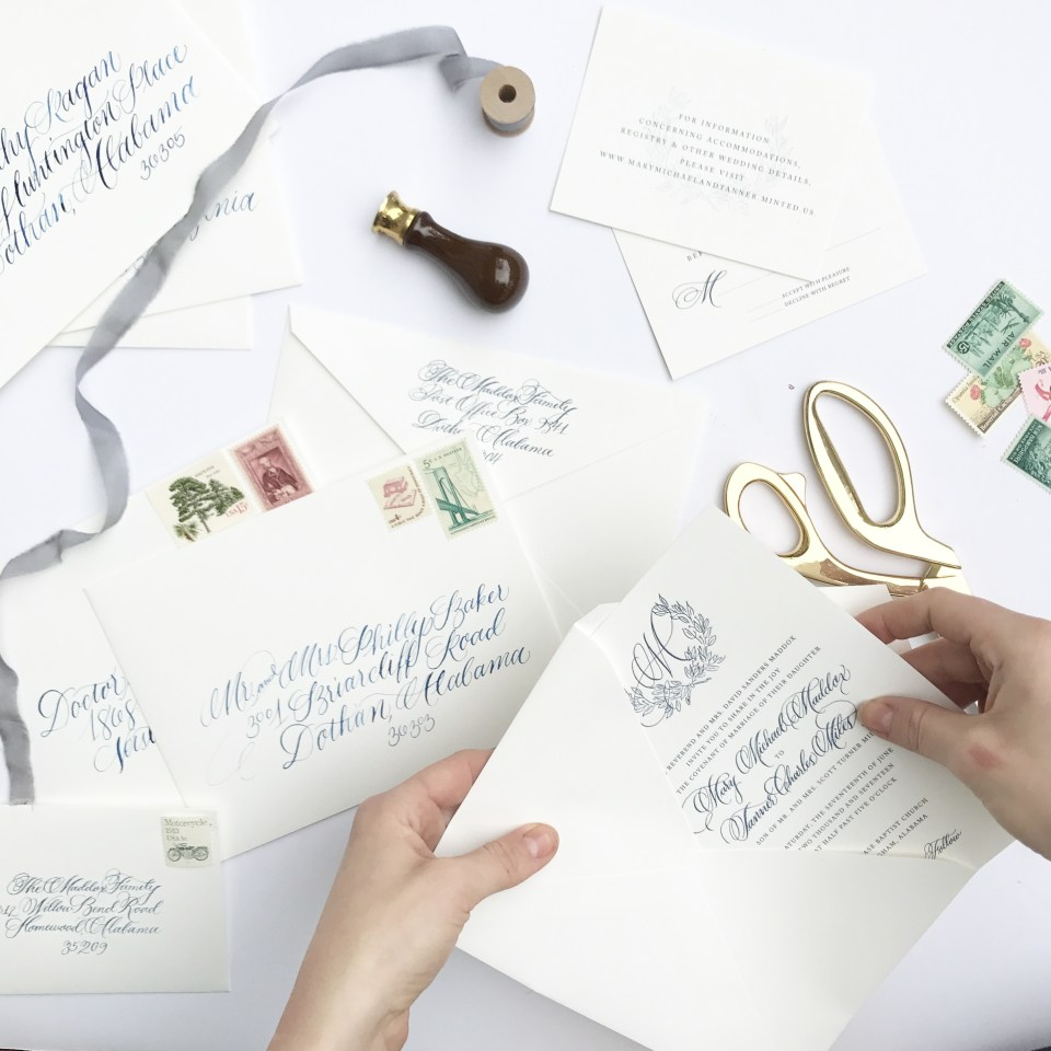 Ashlyn Carter Atlanta wedding calligrapher Ashlyn Writes