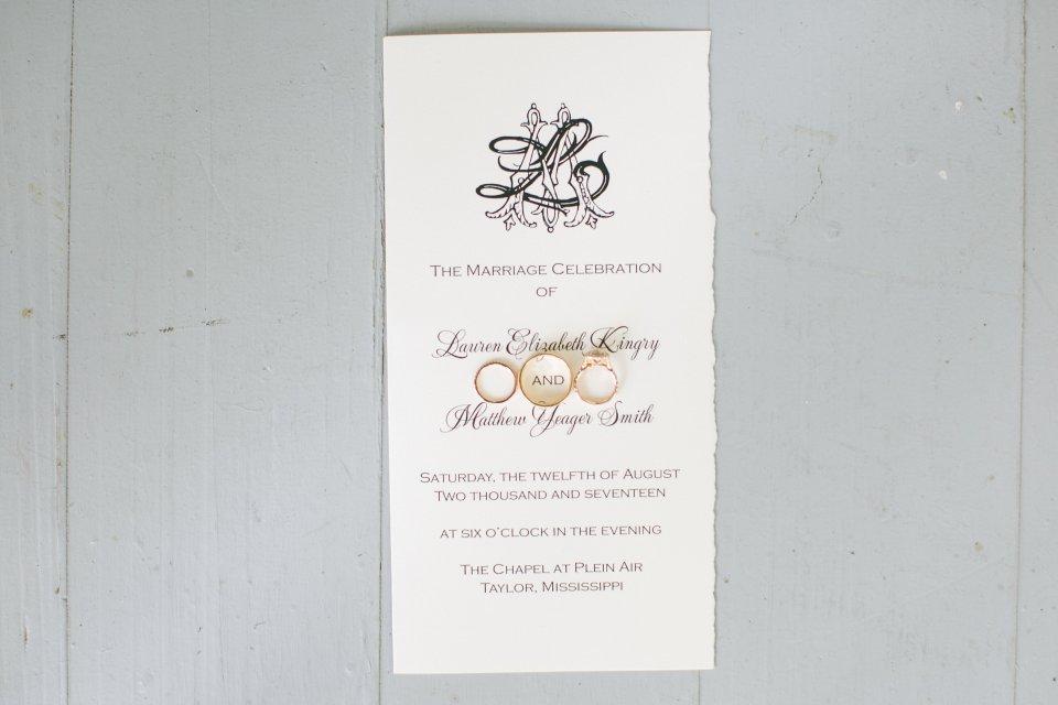 classic mississippi wedding invitation by atlanta wedding calligrapher ashlyn carter of ashlyn writes
