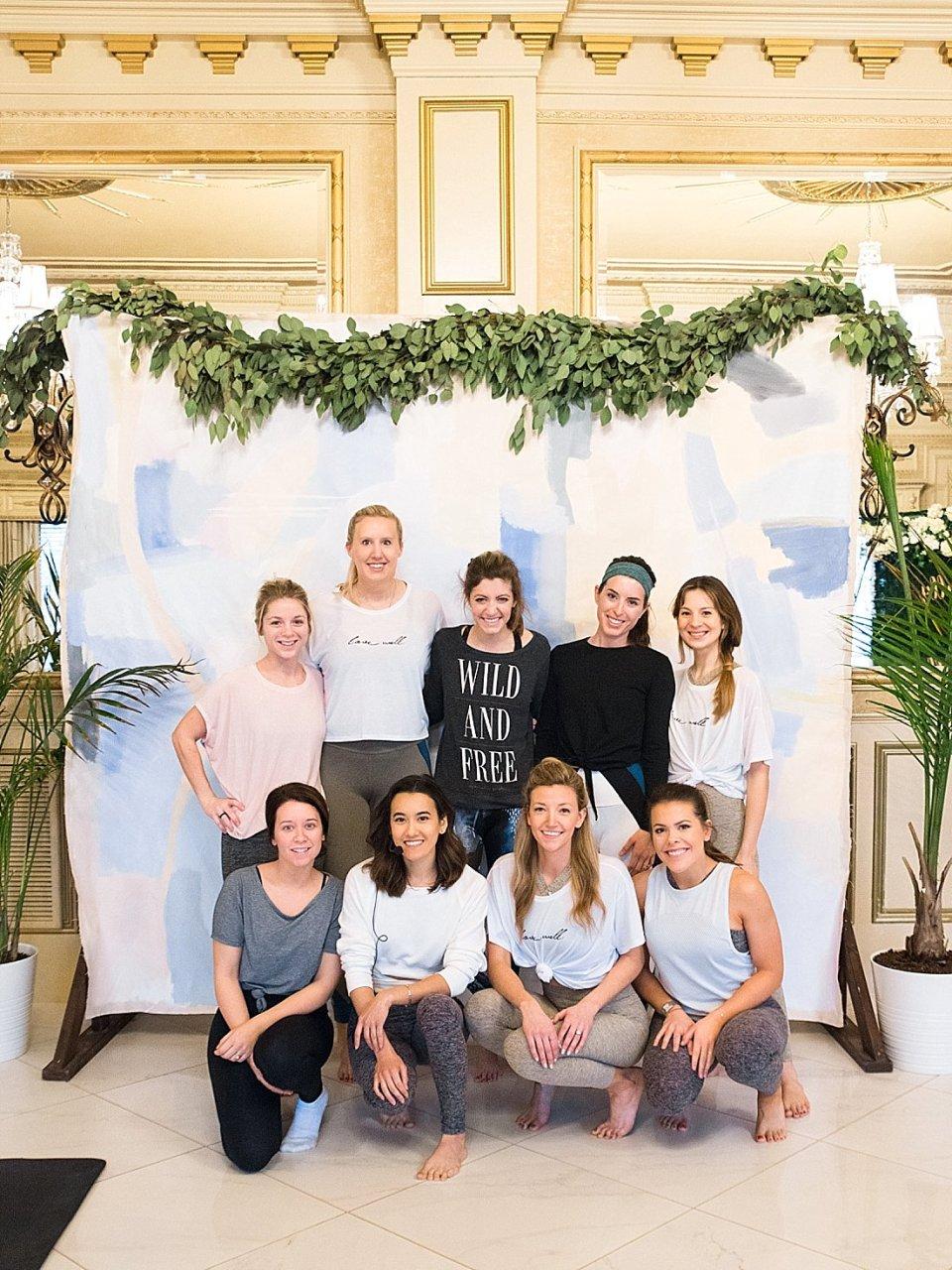 The Joyful Influencer retreat at the kentucky castle Instagram influencer event yoga class