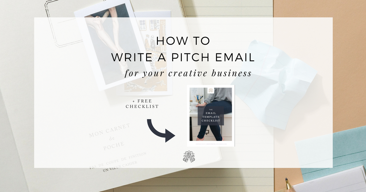 How To Write A Pitch Email For Your Creative Business Ashlyn