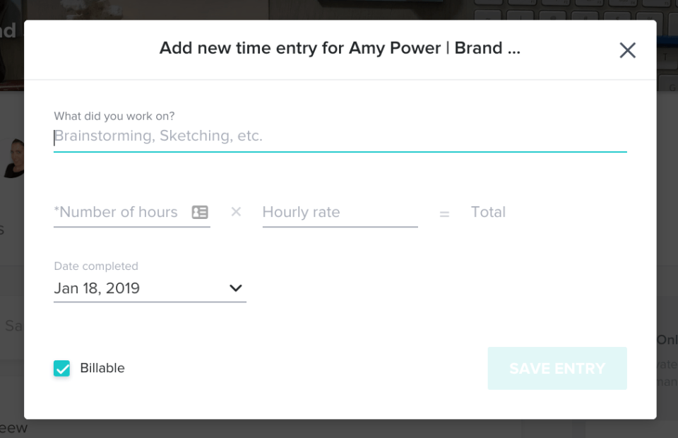 HoneyBook Tracker Screenshot