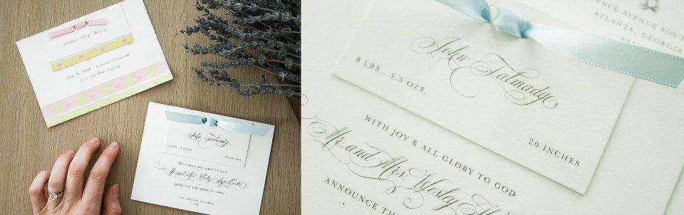 Ashlyn Carter of Ashlyn Writes Baby Announcement Calligraphy