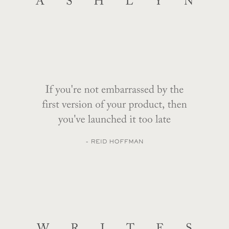 Reid-hoffman-quote-launch-a-website-launch-copywriter