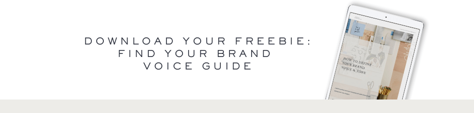 Find Your Brand Voice Guide- Ashlyn Writes
