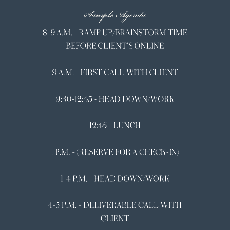 VIP Day Agenda
