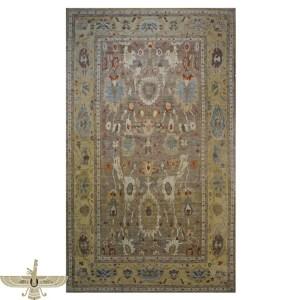 1140085 Sultanabad 12 x 18 Tan Vintage Rug