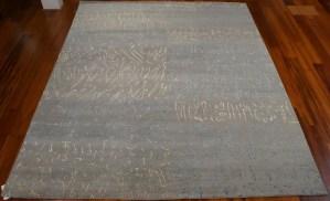 Ashly Fine Rugs modern wool and silk area rug