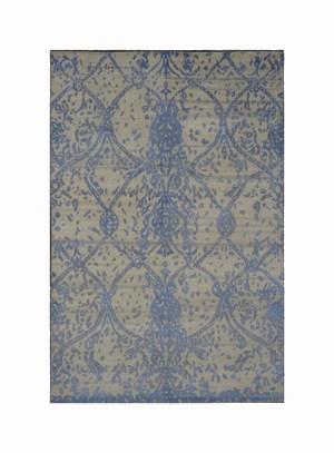 www.ashlyrugs.com Modern Indo Nepal Wool and Silk 4 x 6 Area Rug