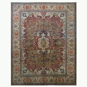 Antique Tabriz Area Rug 10 x 14 Ashly Fine Rugs