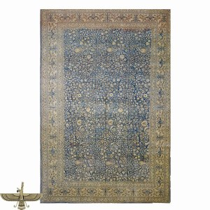 1141057 Antique 100% Wool Tabriz Navy Blue