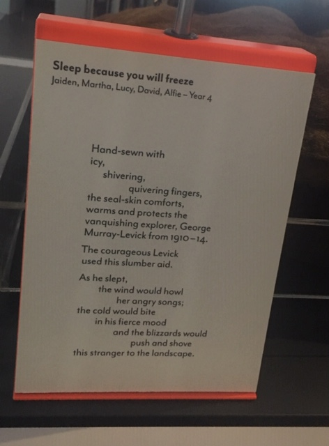 Poetry trail in Polar Worlds Gallery, National Maritime Museum
