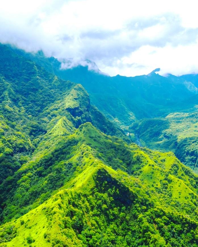 drone shot from Tahiti French Polynesia