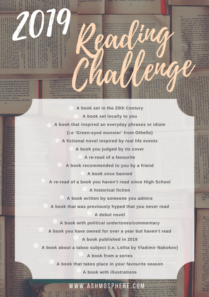 The Ashmosphere 2019 Reading Challenge Prompt