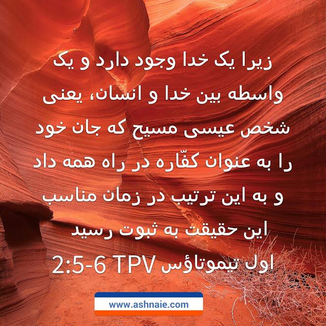 اول تیموتاوس باب ۲ آیه های ۵ و۶
