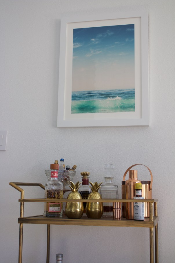 bar cart & minted art