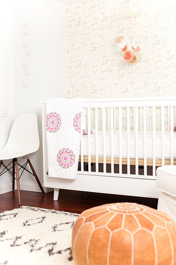 boho baby girl nursery