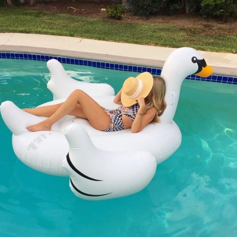 inflatable pool swan