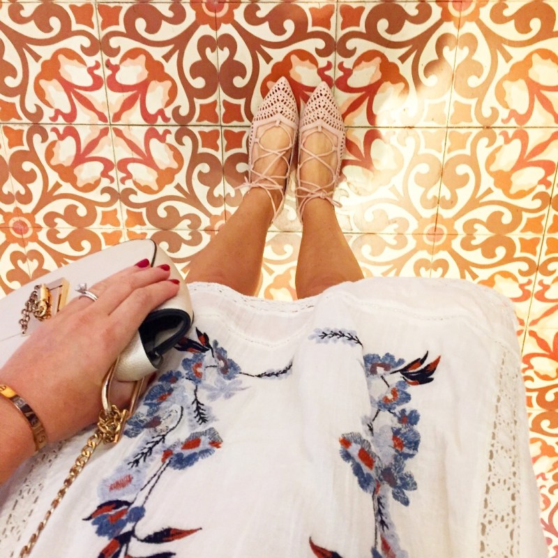 topshop lace up flats