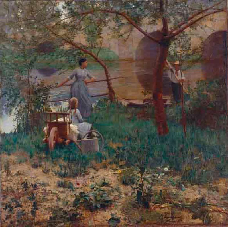 UNDR Đ ČERĪTRI │ 1885 │ Ŷl on canvs │ 150.8 x 150.4 sm