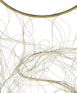 NECḶS FR Đ MILR'Z DWTR │ 2002 │ Siyriz v nicl necrñz bând wɖ gold imbrŷdrīʈredz│ 20 sm dîaṃtr │ Fôto: Jwj Gamr