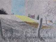 STANDING STONES NEAR DUNKELD │ 2009 │Acrylics on canvas │ 45.5 x 61 cm