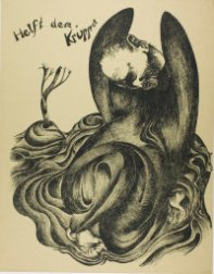 Heinrich Hoerle, 1895-1936. Help the Disabled, from Krüppel, 1920. Lithograph in black on tan wove paper, 560 x 437 mm (image); 590 x 460 mm (sheet). Margaret Fisher Endowment Fund