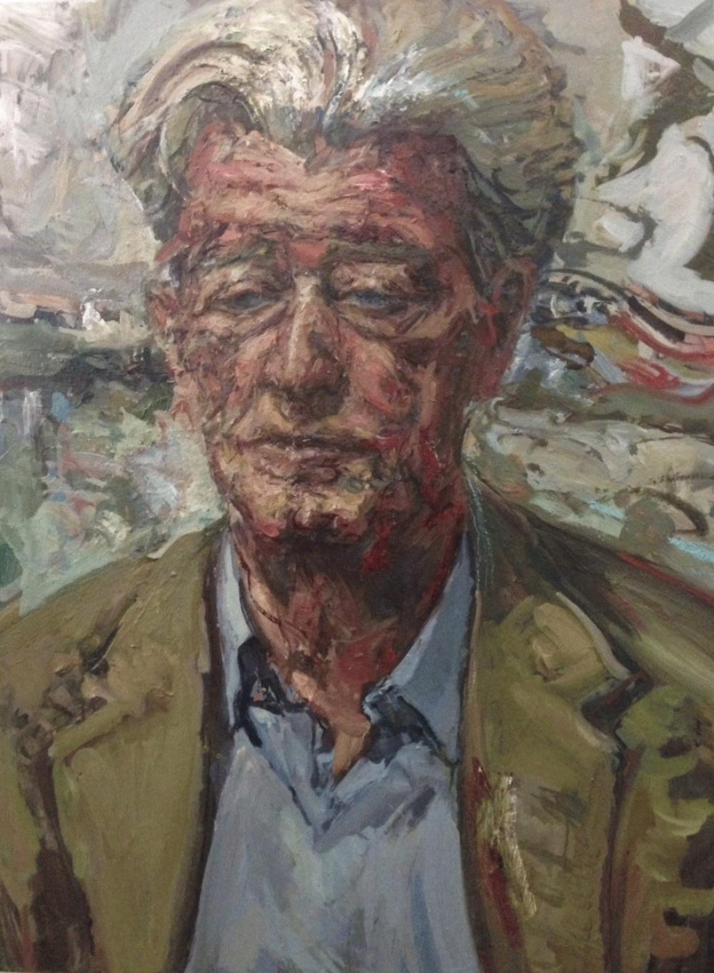 Gillon Aitken - The Literary Agent. Oil on canvas.