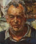 Stephen Frears - The Film Director. Oil on canvas.