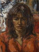 Daisy Goodwin - The Broadcaster and Author. Oil on canvas.
