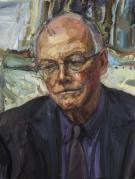 Arthur Edwards - The Photographer. Oil on canvas.